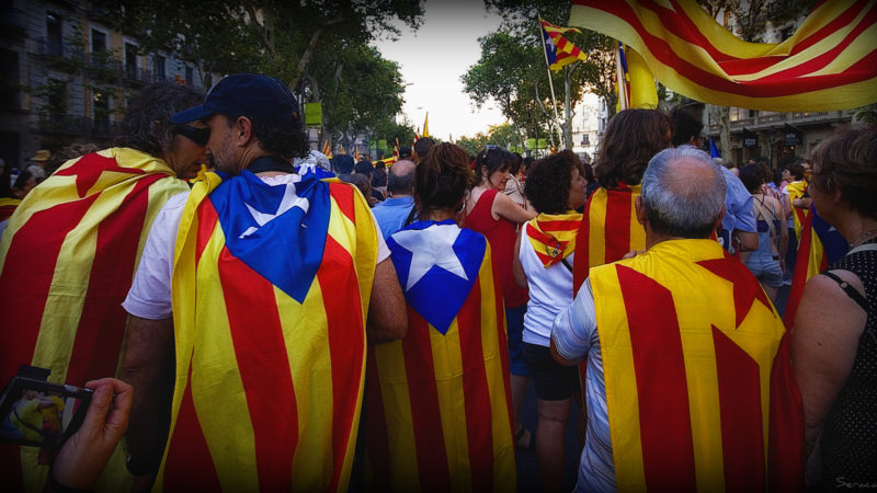 Catalonia independence protest referendum separatist region european union spain