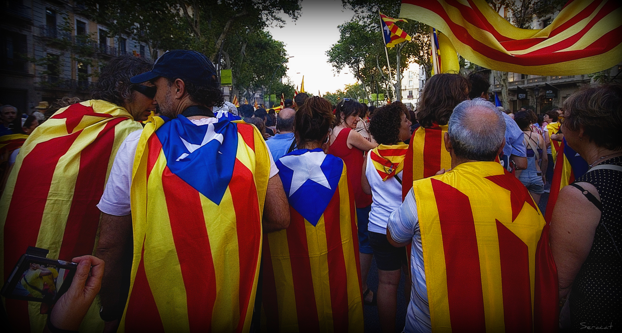 Catalonia independence protest referendum separatist region european union spain