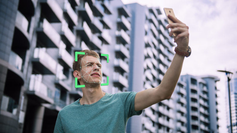 facial recognition technology debate san francisco men phone biometrics data