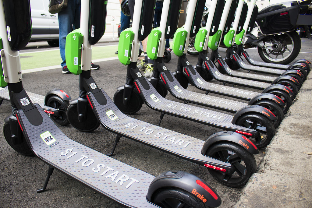 e scooters ban towns pedestrians security urban transportation mobility