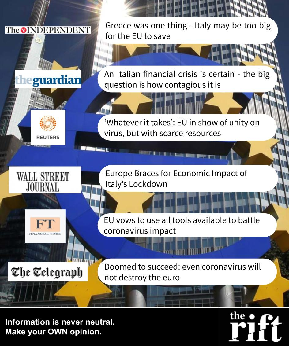 Coronavirus economic crisis - 11/03/2020