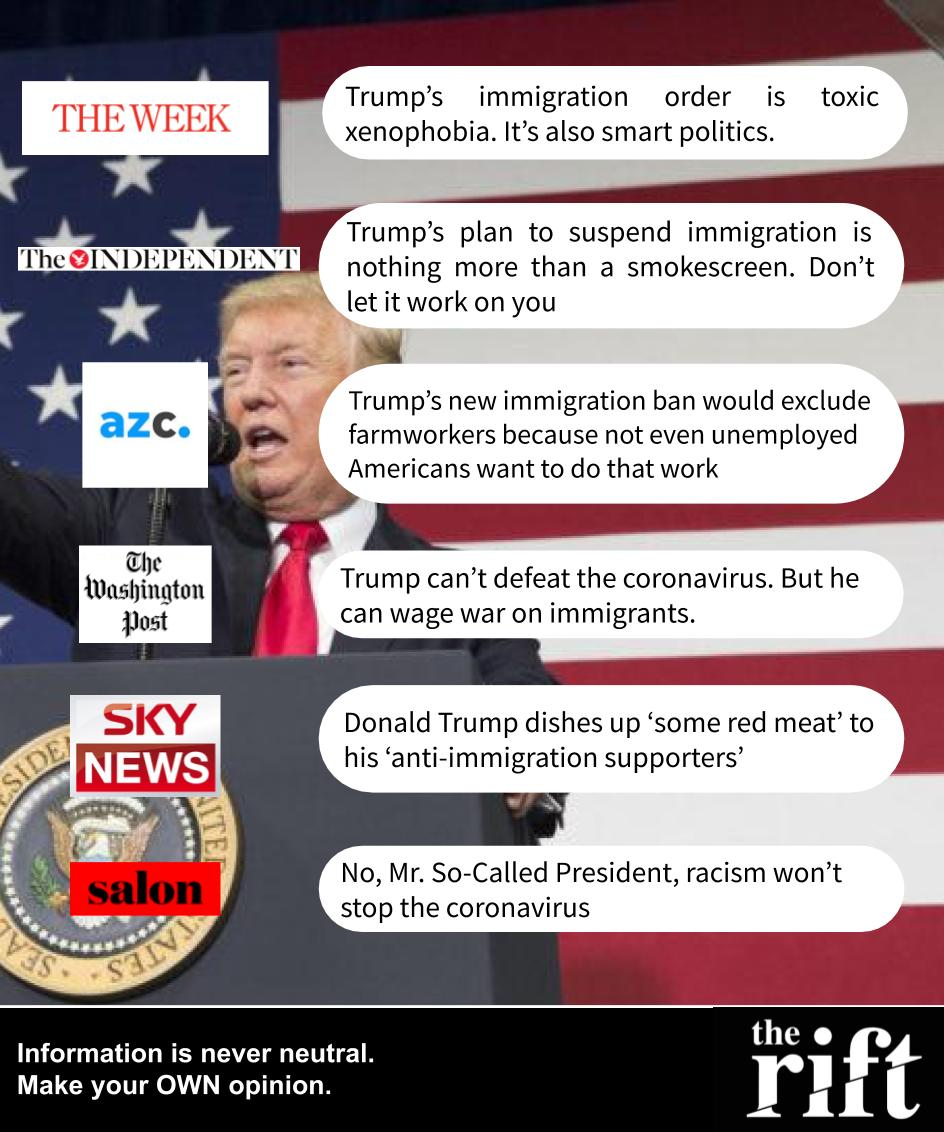 Trump immigration ban - 22/04/2020