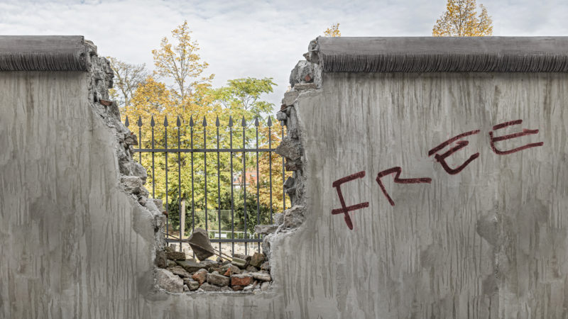 barricade berlin wall east west divide european union